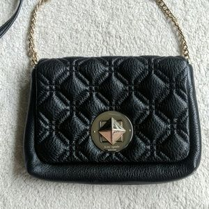 Kate Spade Black Diamond Quilted Crossbody
